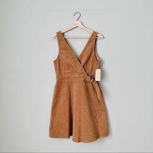 NWT {Copper Key} Corduroy Fit & Flare Vest Dress